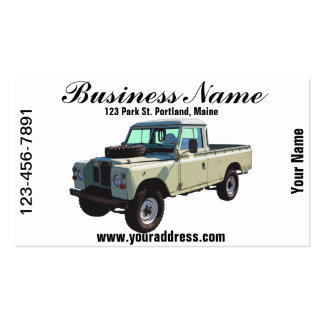 1971 Land Rover Pickup Truck Double-Sided Standard Business Cards (Pack Of 100)
