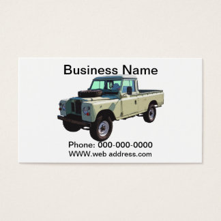 1971 Land Rover Pickup Truck Business Card