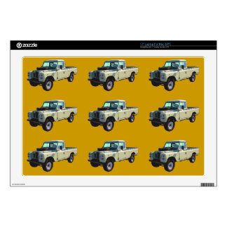 1971 Land Rover Pickup Truck Decals For Laptops