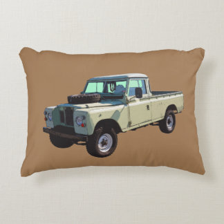 1971 Land Rover Pickup Truck Decorative Pillow