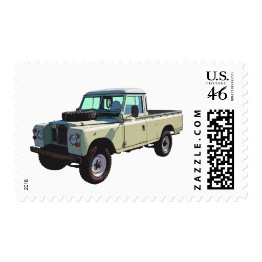 1971 Land Rover Pickup Truck Stamp