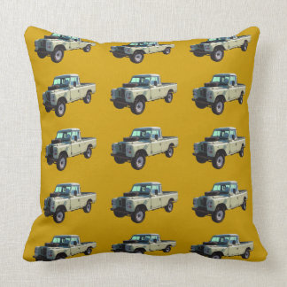 1971 Land Rover Pickup Truck Throw Pillow