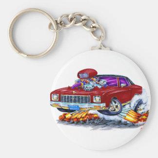 1971 Monte Carlo Maroon Car Keychain