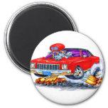 1971 Monte Carlo Red Car Fridge Magnet