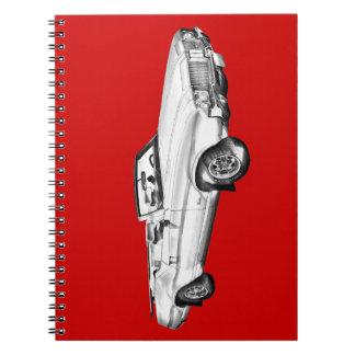 1971 Oldsmobile Cutlass Supreme Car Illustration Notebook