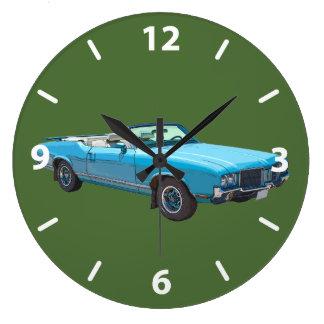 1971 Oldsmobile Cutlass Supreme Muscle Car Large Clock