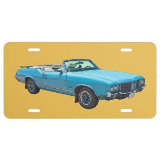 1971 Oldsmobile Cutlass Supreme Muscle Car License Plate