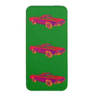 1971 Oldsmobile Cutlass Supreme Muscle Car Pop Art iPhone 5 Pouch