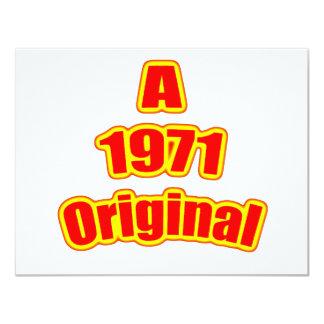 1971 Original Red Card