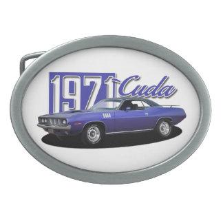 1971 Plymouth Barracuda Cuda Mopar Muscle Car Belt Buckle