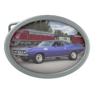 1971 Plymouth Barracuda Cuda Mopar Muscle Car Oval Belt Buckle