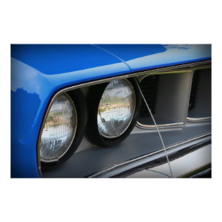 1971 Plymouth 'Cuda Blue Posters