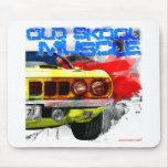 "1971 Plymouth Cuda ""Old Skool Muscle"" Mousepads"