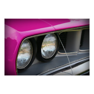 1971 Plymouth 'Cuda Pink Poster