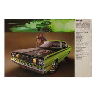 1971 Plymouth Duster 340 Ad Poster