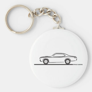 1971 Plymouth Duster Basic Round Button Keychain