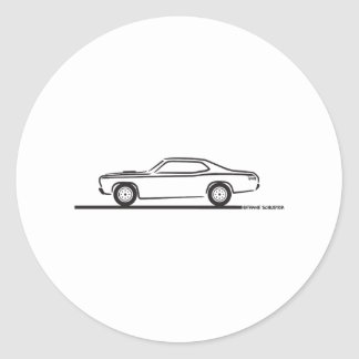1971 Plymouth Duster Classic Round Sticker