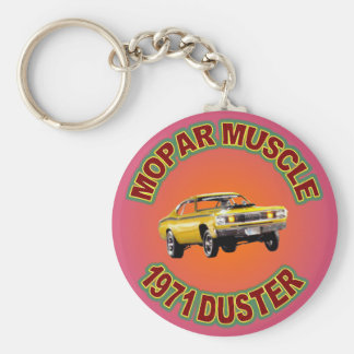 1971 Plymouth Duster Keychain. Basic Round Button Keychain