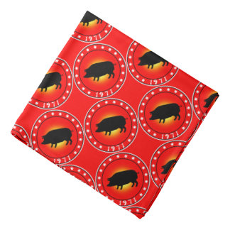 1971 Year of the Pig Bandana