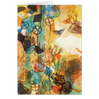 1972, Before Abstract Mojave Desert Poppies Card