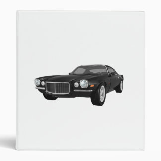 1972 Camaro Z28: Muscle Car: Black Finish: Binder