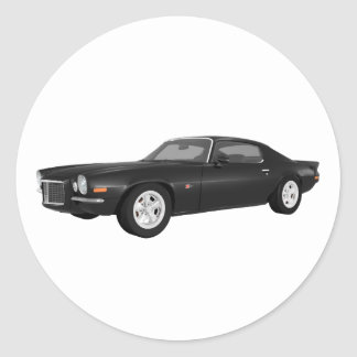 1972 Camaro Z28 Muscle Car Black Finish Stickers