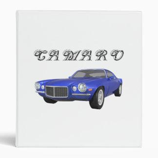 1972 Camaro Z28: Muscle Car: Blue Finish: Binder
