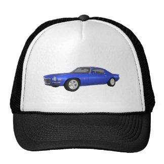 1972 Camaro Z28: Muscle Car: Blue Finish: Trucker Hat