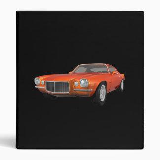 1972 Camaro Z28: Muscle Car: Orange Finish: Binder