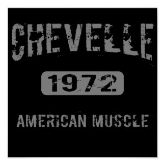 1972 Chevelle American Muscle Poster