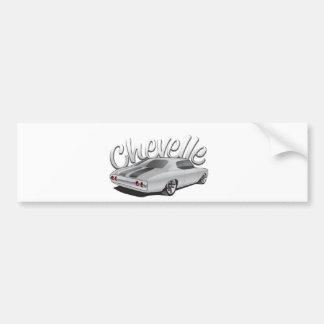 1972 Chevelle Custom Illustration Car Bumper Sticker