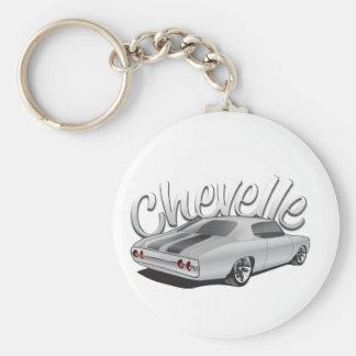 1972 Chevelle Custom Illustration Keychain