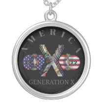 1972 Generation X American Skateboard Silver Plated Necklace