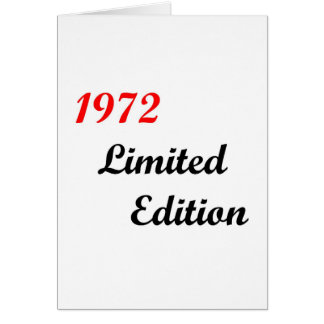 1972 Limited Edition Greeting Card