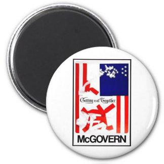 1972 Mcgovern 2 Inch Round Magnet