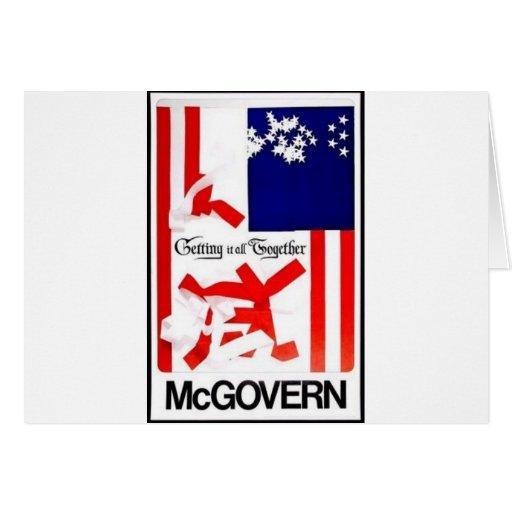 1972 Mcgovern Card