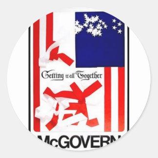 1972 Mcgovern Round Sticker