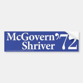 1972 McGovern Shriver Vintage Bumper Sticker Car Bumper Sticker
