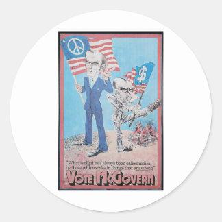 1972 Mcgovern Stickers