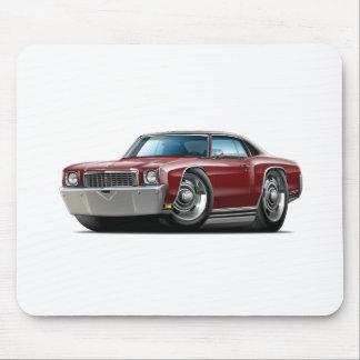 1972 Monte Carlo Maroon-Black Top Car Mouse Pad