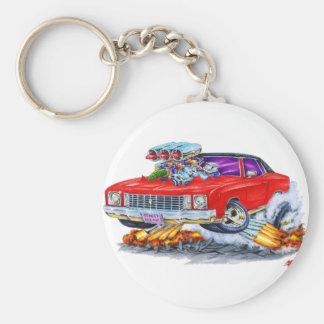 1972 Monte Carlo Red Car Keychain
