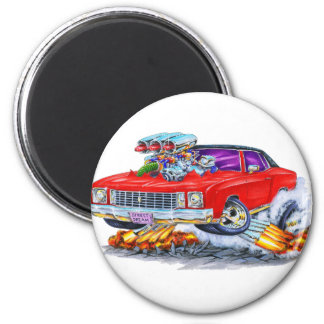 1972 Monte Carlo Red Car Magnet