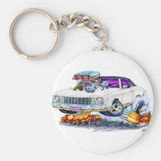 1972 Monte Carlo White Car Keychain