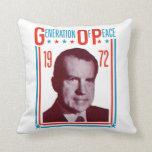 1972 Nixon Presidential Campaign Pillow