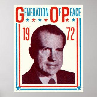 1972 Nixon Presidential Campaign Poster