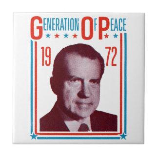 1972 Nixon Presidential Campaign Small Square Tile