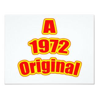 1972 Original Red 4.25x5.5 Paper Invitation Card