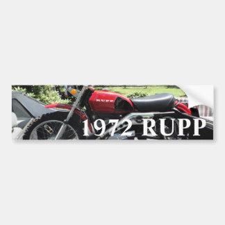 1972 Rupp Motorcycle Car Bumper Sticker