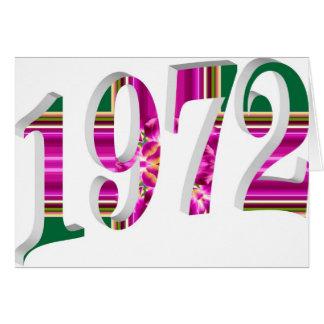1972 TARJETA