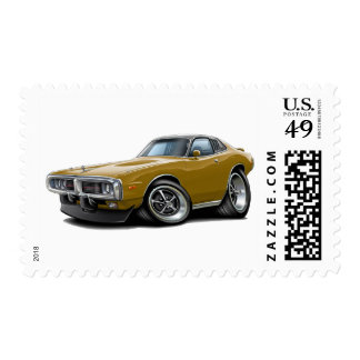 1973-74 Charger Gold-Black Opera Top Car Postage